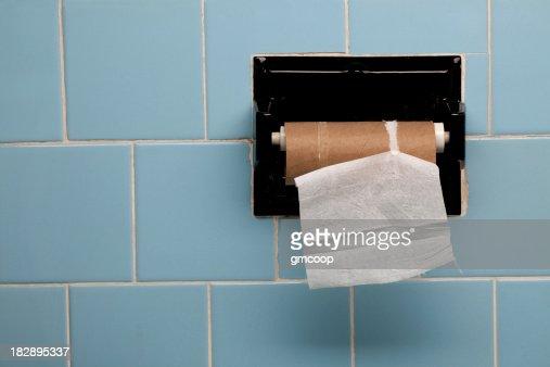 Last Piece of Toilet Paper Horizontal : Stock Photo
