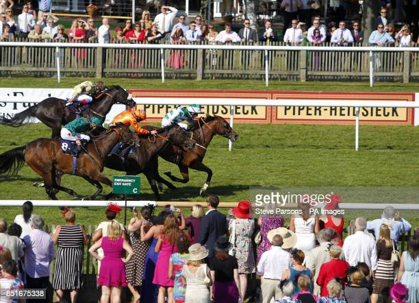 Last Soverign ridden by Jacob Butterfield wins the Frontline Bathrooms Handicap Stakes during Boylesport Ladies Day of the PiperHeidsieck July...