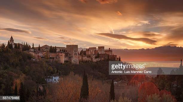 Last sunbeams and Alhambra