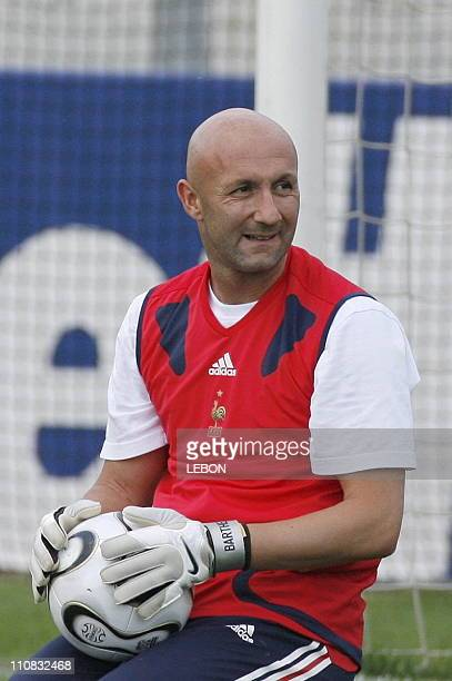 Last Training For French Team Before 2006 Fifa World Cup Final In Berlin Germany On July 082006 Fabien Barthez