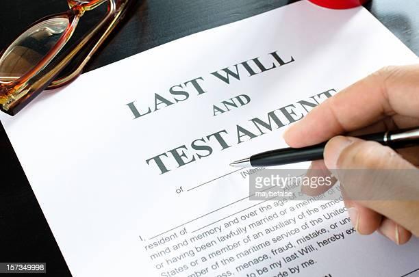 Dernière volonté et testament