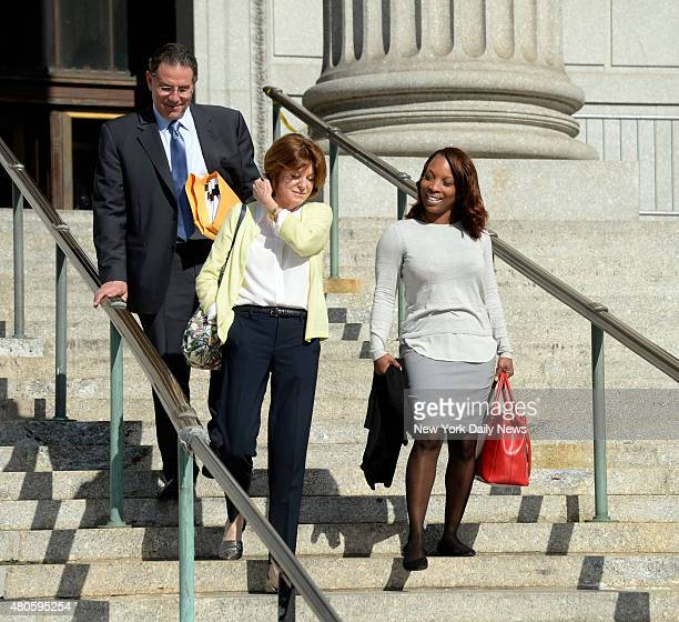 Lastonia Leviston leaves Manhattan Supreme Court after winning $6 million in her lawsuit against rapper 50 Cent on Friday July 10 2015 She had...