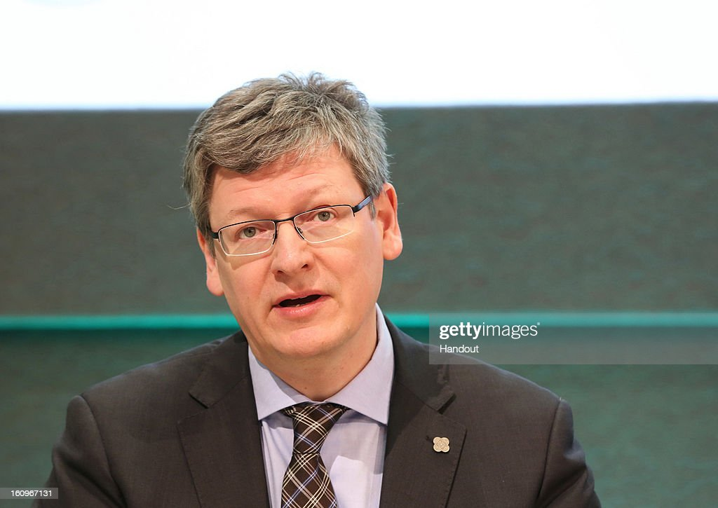 Laszlo Andor Commissioner for Employment Social Affairs and Inclusion speaks to the press at the second plenary session of the Informal Meeting of...