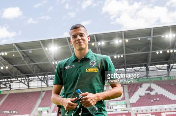 Laszlo Benes of Borussia Moenchengladbach ahead a Bundesliga match between FC Augsburg and Borussia Moenchengladbach at WWK Arena on August 26 2017...