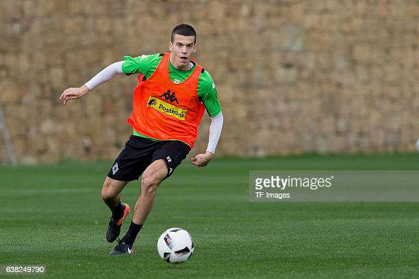 Laszlo Benes of Borussia Moenchengladbach in action during a Training Session at Borussia Moenchengladbach Training Camp on January 07 2017 in...