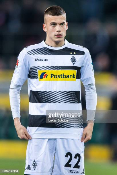 Laszlo Benes of Moenchengladbach reacts after loosing the Bundesliga match between Borussia Moenchengladbach and Bayern Muenchen at BorussiaPark on...