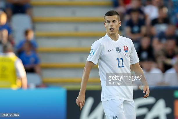 Laszlo Benes of Slovakia looks on during the 2017 UEFA European Under21 Championship match between Slovakia and England on June 19 2017 in Kielce...