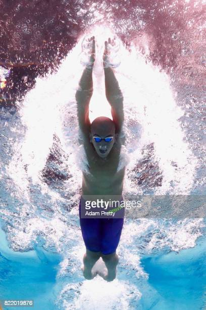 Laszlo Cseh of Hungary competes during the Men's 200m Butterfly Heats on day twelve of the Budapest 2017 FINA World Championships on July 25 2017 in...