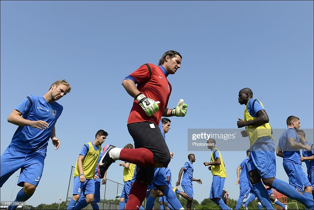 Laszlo Koteles of KRC Genk during a KRC Genk summer camp training session on July 09 , 2013 in Tegelen, Netherlands.