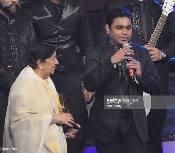Lata Mangeshkar and AR Rahman during the Global Indian Music Awards function in Mumbai on Wednesday November 10 2010