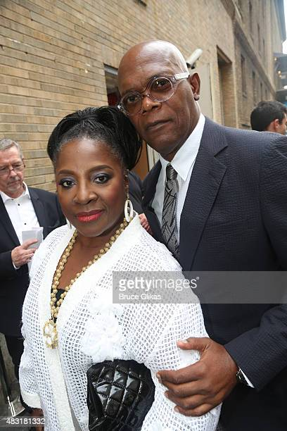 LaTanya Richardson and Samuel L Jackson attend 'Hamilton' Broadway opening night at Richard Rodgers Theatre on August 6 2015 in New York City
