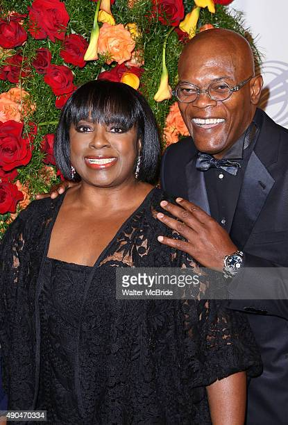 LaTanya Richardson and Samuel L Jackson attend the American Theatre Wing honors James Earl Jones at the Plaza Hotel on September 28 2015 in New York...