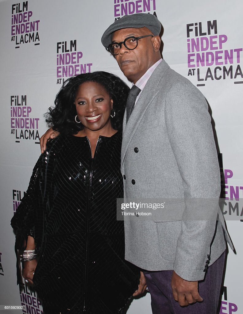 LaTanya Richardson and Samuel L. Jackson attend the premiere of Magnolia Pictures 'I Am Not Your Negro' at LACMA on January 12, 2017 in Los Angeles, California.