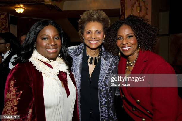 LaTanya Richardson Jackson Leslie Uggams and Pauletta Washington at the Dining with the Divas at The Apollo Theater on February 14 2011 in New York...