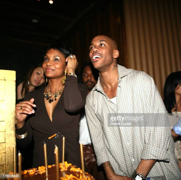 LaTasha Marbury and Stephon Marbury during Party at Manor for Stephon Marbury of the New York Knicks at Manor in New York New York United States