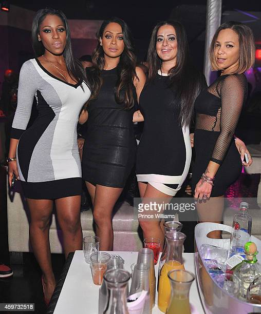 Latasha Wright Lala Anthony Sue Barakat and Po Johnson attends An Eventing at Prive Hosted by LaLa Anthony at Prive on November 26 2014 in Atlanta...