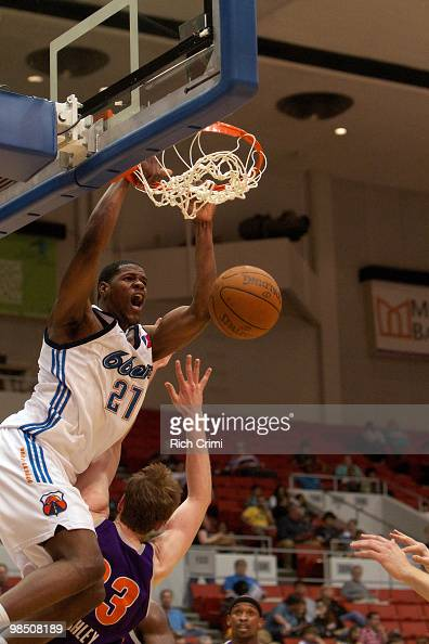 Latavious Williams of the Tulsa 66ers dunks against the Iowa Energy as the Iowa Energy play the Tulsa 66ers in NBA DLeague second round playoff...