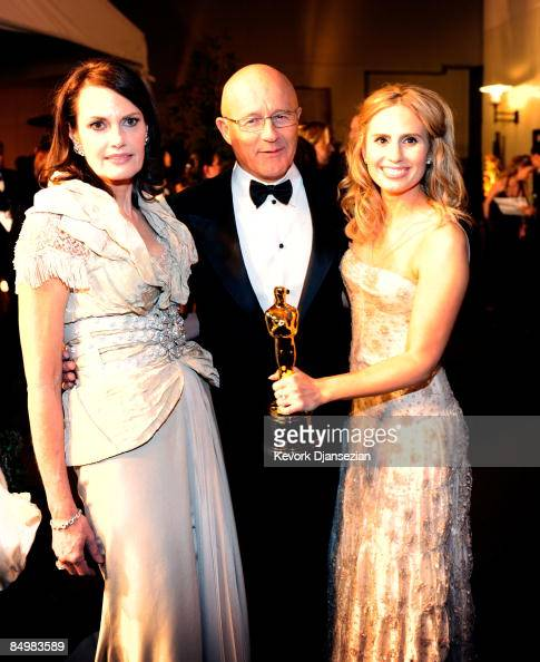 Late actor Heath Ledger's mother Sally Ledger father Kim Ledger and sister Kate Ledger attend the 81st Annual Academy Awards Governor's Ball held at...