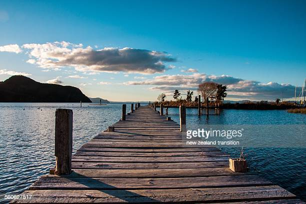 Late afternoon at Motuoapa Bay jetty, Lake Taupo