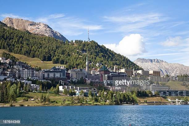 Am späten Nachmittag im St.Moritz, Engadin, Schweiz