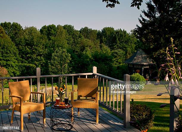 Late afternoon drink on a porch Norumbega Inn Camden ME