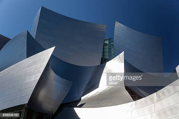 Late afternoon view of Walt Disney Concert Hall