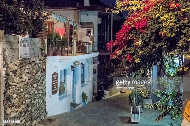 Late evening picture of Glossa village, Skopelos