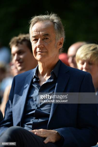 Late Gonzague Saint Bris brother Edouard Saint Bris attends a tribute to the late writer and journalist during the 22th La Foret Des Livres book fair...