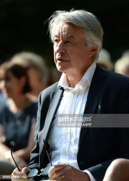 Late Gonzague Saint Bris brother' Francois Saint Bris attends a tribute to the late writer and journalist during the 22th La Foret Des Livres book...