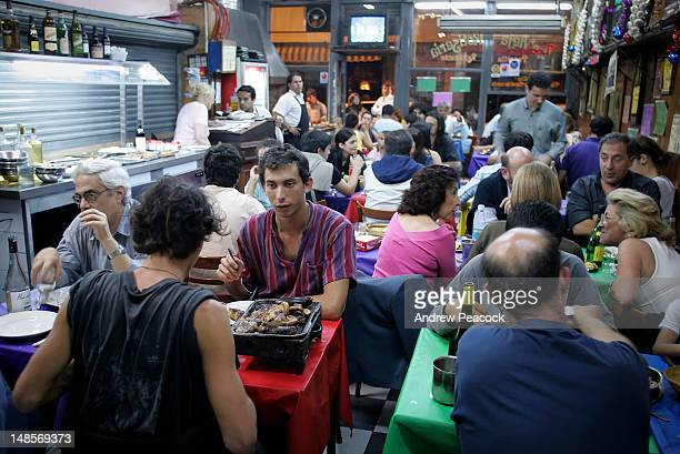 Late night diners at San Telmo parilla.
