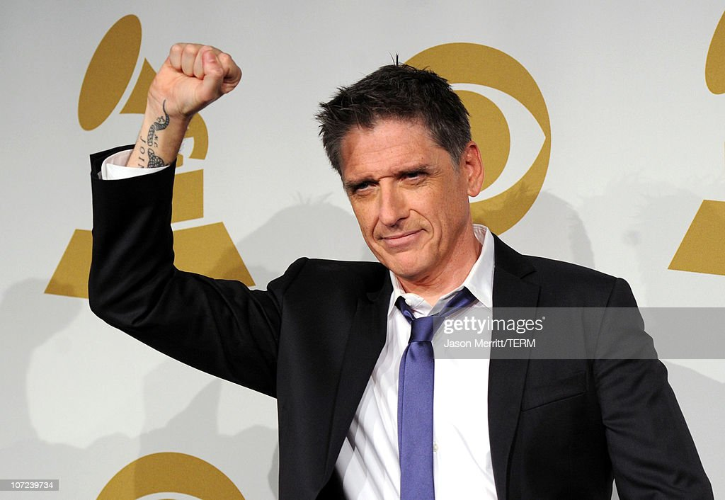 Late night host <a gi-track='captionPersonalityLinkClicked' href=/galleries/search?phrase=Craig+Ferguson+-+Talk+Show+Host&family=editorial&specificpeople=204509 ng-click='$event.stopPropagation()'>Craig Ferguson</a> poses in the press room during the GRAMMY Nominations Concert Live at Club Nokia on December 1, 2010 in Los Angeles, California.
