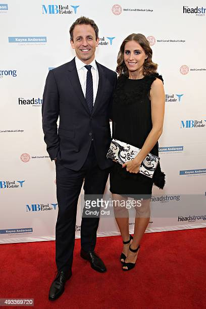 Late Night host Seth Meyers and wife Alexi Ashe attend The Headstrong Project's 3rd annual Words of War event at One World Trade Center on October 19...
