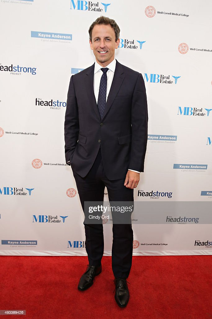 Late Night host Seth Meyers attends The Headstrong Project's 3rd annual Words of War event at One World Trade Center on October 19, 2015 in New York City.