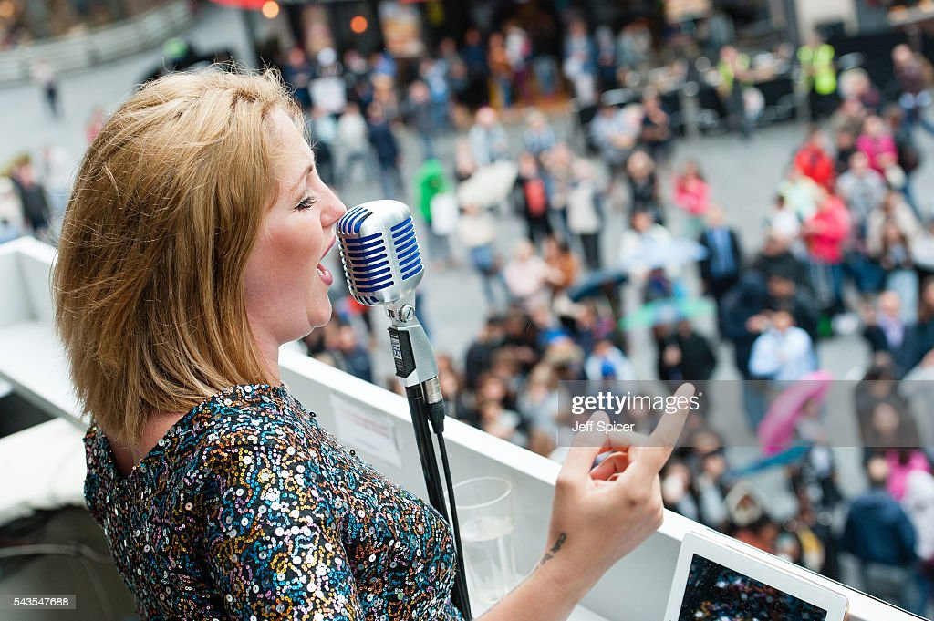 Late Night London launch Christmas 2016 with 'chart topping songstress' Adele impersonator J'adele on June 29, 2016 in London, England.