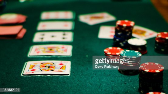 Late night poker : Stock Photo