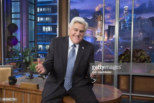 Late night TV host Jay Leno is photographed for USA Today on January 27 2014 on the set of the Tonight Show in Burbank California PUBLISHED IMAGE