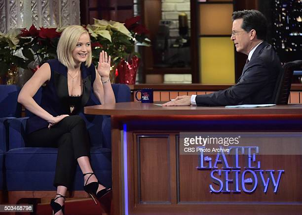 Late Show with Stephen Colbert with guest Jennifer Lawrence