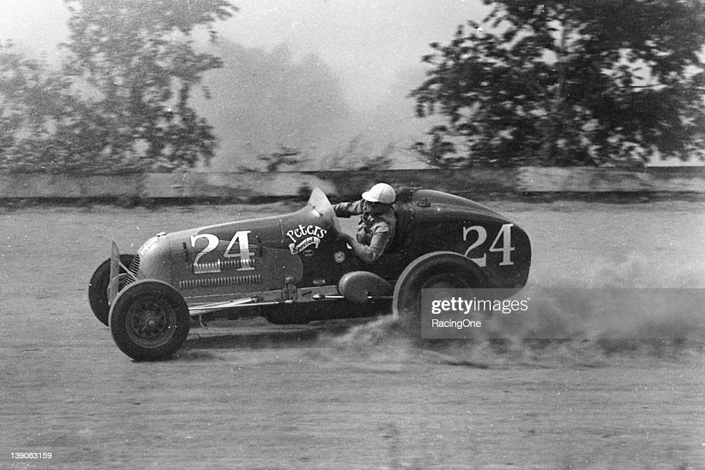 """George Rice """"Joie"""" Chitwood, Sr. excelled on the dirt tracks from the late-1930s through the early-1950s, especially in Sprint Cars. Chitwood won well over 20 AAA and CSRA Sprint car races between 1941 and 1947. He was the AAA East Coast Sprint Car champion in 1939 and 1940, then the CSRA Sprint Car titlist in 1942."""