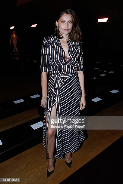 Latetitia Casta attends the Nina Ricci show as part of the Paris Fashion Week Womenswear Spring/Summer 2017 on October 1 2016 in Paris France