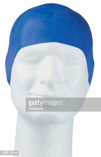 latex swimming bonnet on dummy head