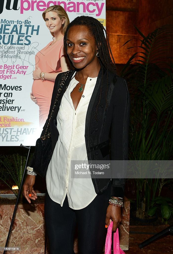 Latham Thomas attends the Fit Pregnancy Ivanka Trump Cover Party at Trump Tower Atrium on September 17, 2013 in New York City.