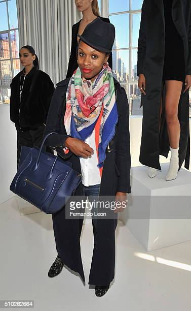 Latham Thomas attends the Laquan Smith Presentation at Jack Studios during Fall 2016 New York Fashion Week on February 14 2016 in New York City