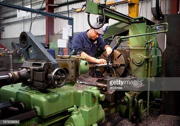 Drehmaschine Arbeiter
