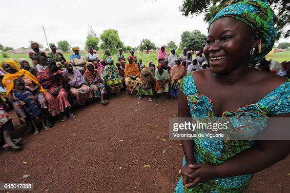 Latifa used to be a kayayo girl and his pictured here telling the Warobagou community about it to avoid young girls heading off to the big cities to...