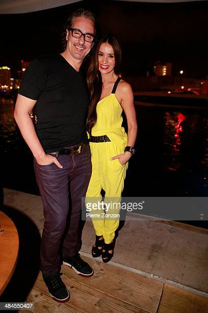 Latin actor Miguel Varoni and Latin Actress Catherine Siachoque at Seasalt and Pepper on April 11 2014 in Miami Florida