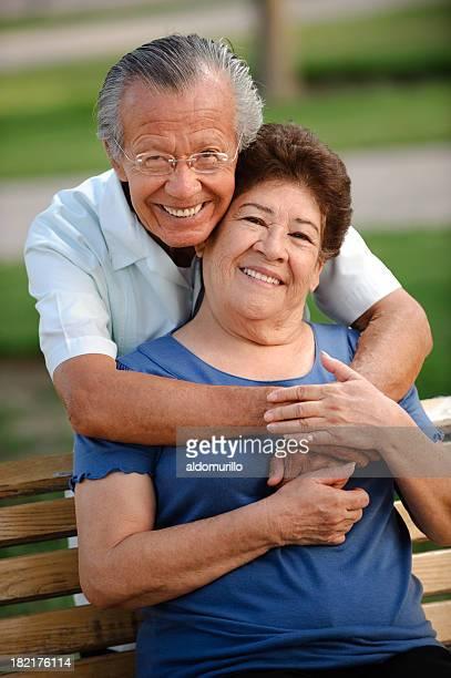 Latin American senior couple
