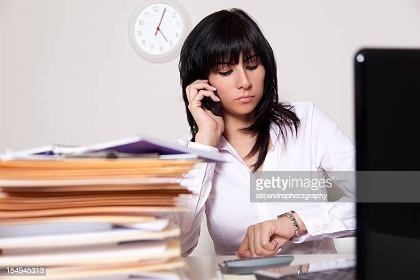 Latin businesswoman on the phone