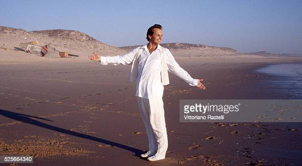 Latin Grammywinning Spanish musician and actor Miguel Bos�� on the beach of Cap Ferret