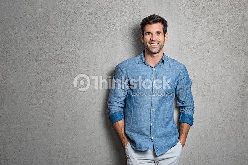 Latin man standing : Stock Photo