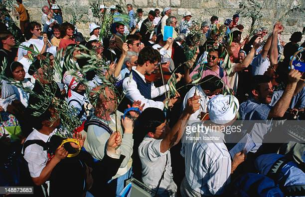 Latin (Catholic) Palm Sunday procession, Mount of Olives.